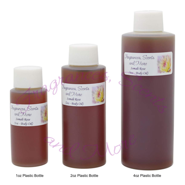 Somali Rose Perfume/Body Oil (7 Sizes) - Free Shipping (4oz Plastic Bottle (120ml))