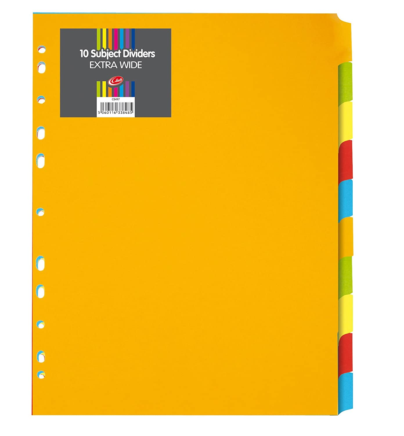 A4 Extra Wide Subject Dividers 10 Part