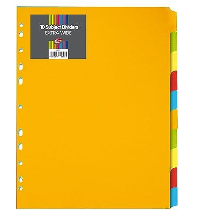 Concord - Separadores para archivador (A4, 10 unidades ...