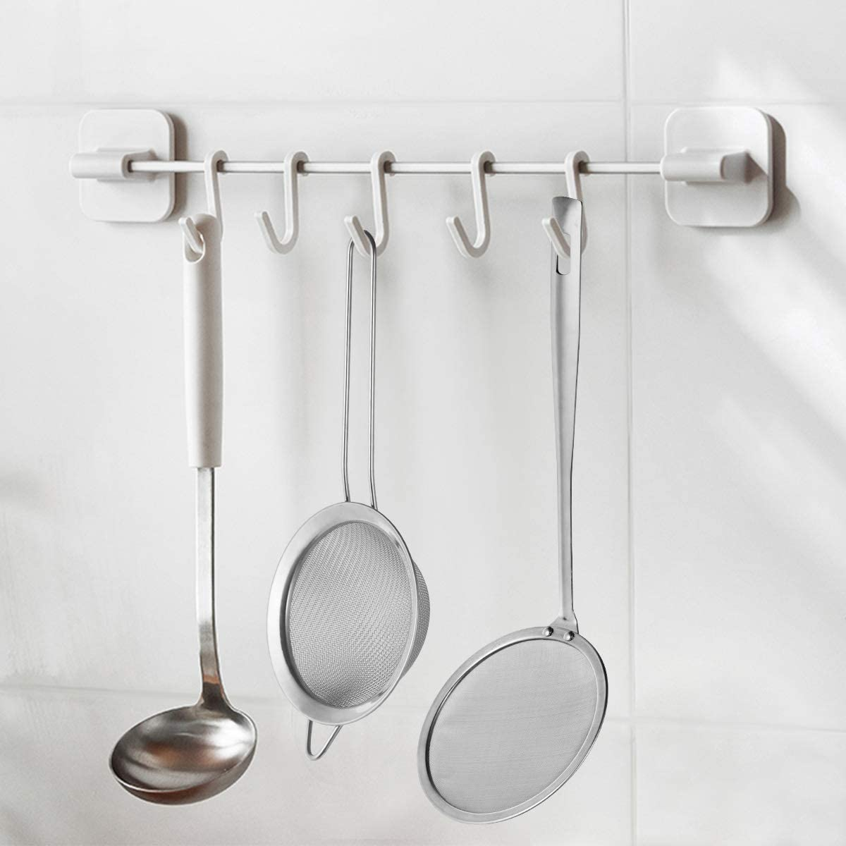 Stainless Steel Spoon Kitchen Utensils Soup Ladle Hotpot Colander 1X Sotds