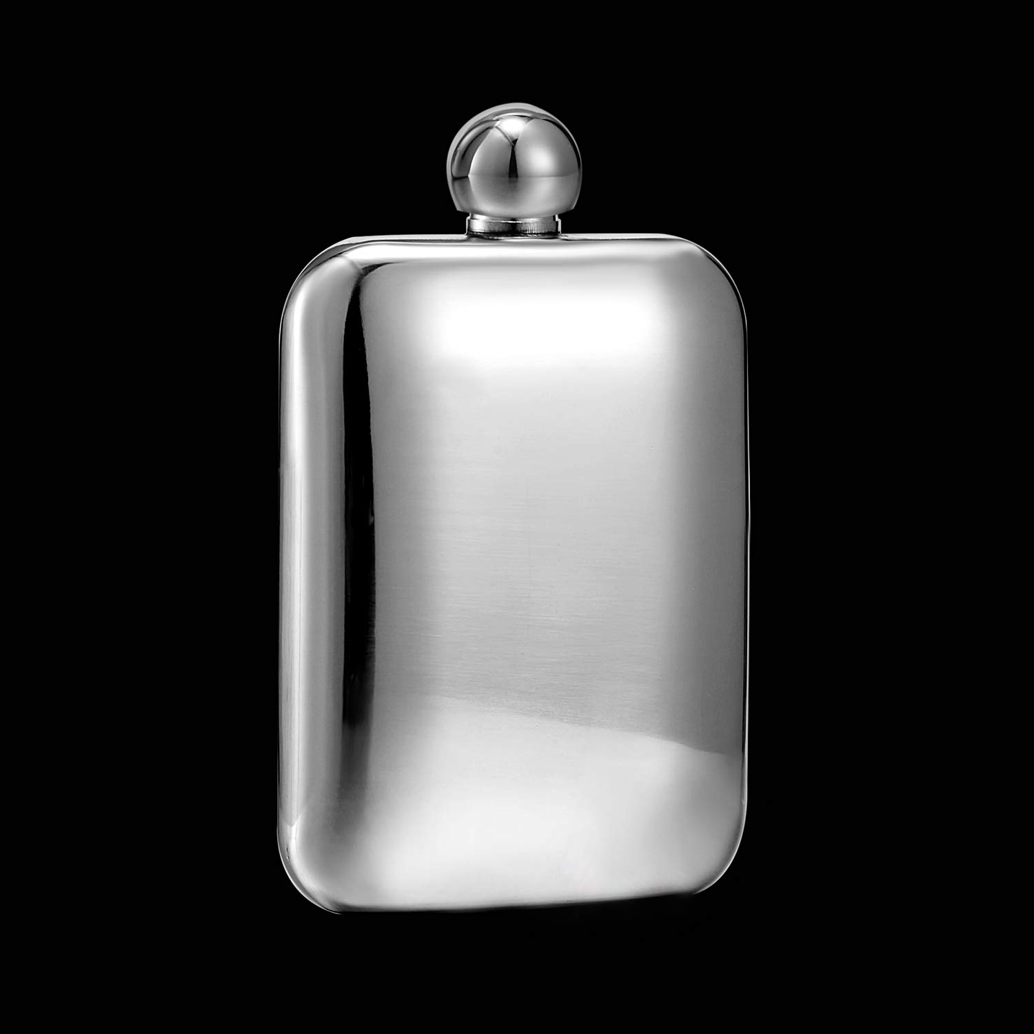 Booze Shot Flask AB Crystal Lid Creative 304 Stainless Steel Wine Alcohol Liquor Flask for Women Girls Men Party Hand size Flask-6OZ Black, 1