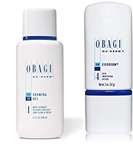 Obagi Medical Nu-Derm Foaming Gel And Obagi Nu-Derm Exfoderm.