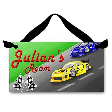 Amazon.com: Cartel para puerta de Racing coches de carreras ...
