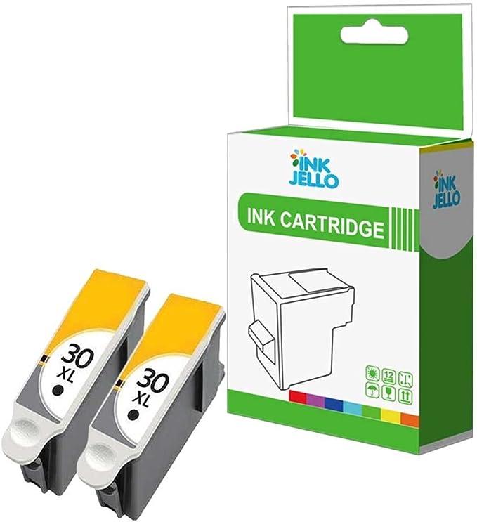 InkJello - Pack de 2 cartuchos de tinta negra compatibles con ...