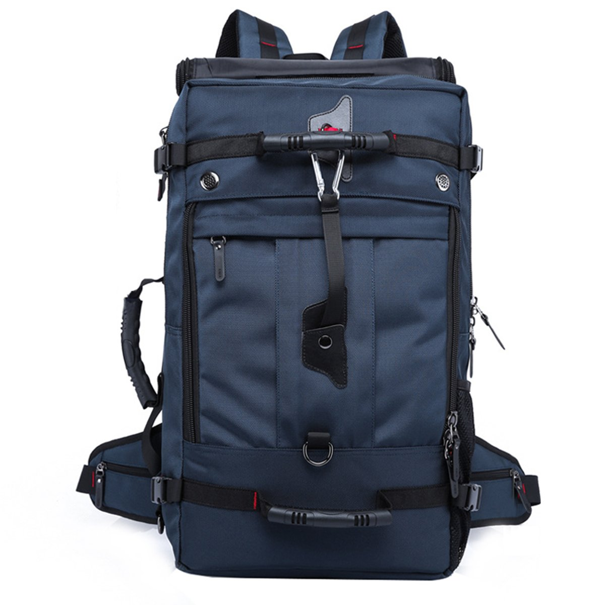 Fanspack ザック アウトドア バッグ 山登り リュック 登山 デイパック ネイビー メンズ レディース ポケット 50L 大型 パスワード ロック付き オックスフォード パスワード ロック付き B078MYJK2H  ネイビー