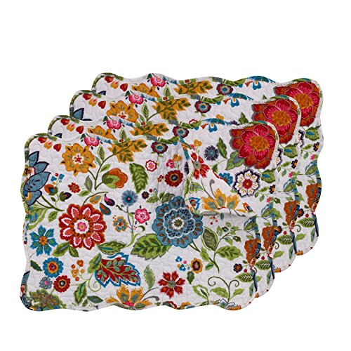 (Greenland Home Astoria Placemat Set, White)