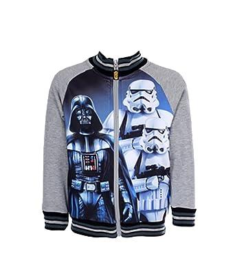 4291aab575737 garçon officiel Star Wars Darth Vader Stormtrooper fermeture éclair VESTE  SWEAT tailles de 4 à 12