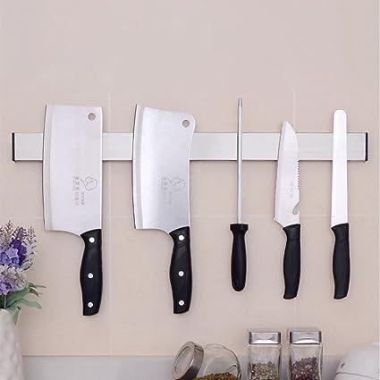 HanDingSM - Soporte magnético profesional de acero inoxidable para cuchillos y utensilios de cocina, montaje en pared