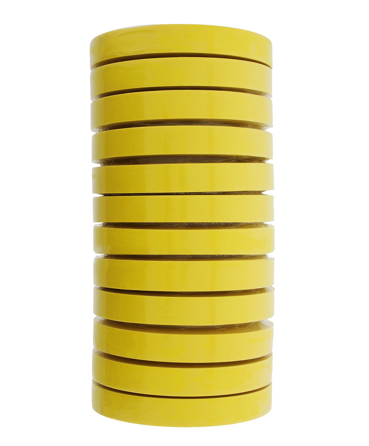 3M 06652 Automotive Refinish Masking Tape, 250 Degree F Performance Temperature, 28 lbsin Tensile Strength, 55m Length x 18mm Width, Yellow (Case of 12 Rolls)