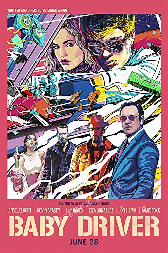 Posters Usa   Baby Driver Movie Poster Glossy Finish   Fil552  24  X 36   61Cm X 91 5Cm