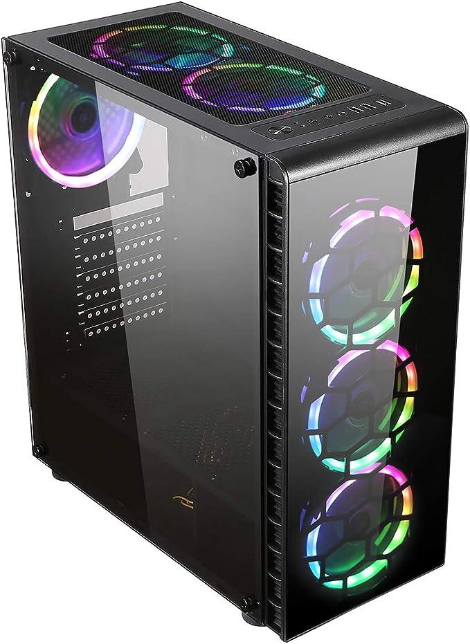 CiT Raider Funda de Juego 4 x Espectro de Halo Ventiladores RGB ...
