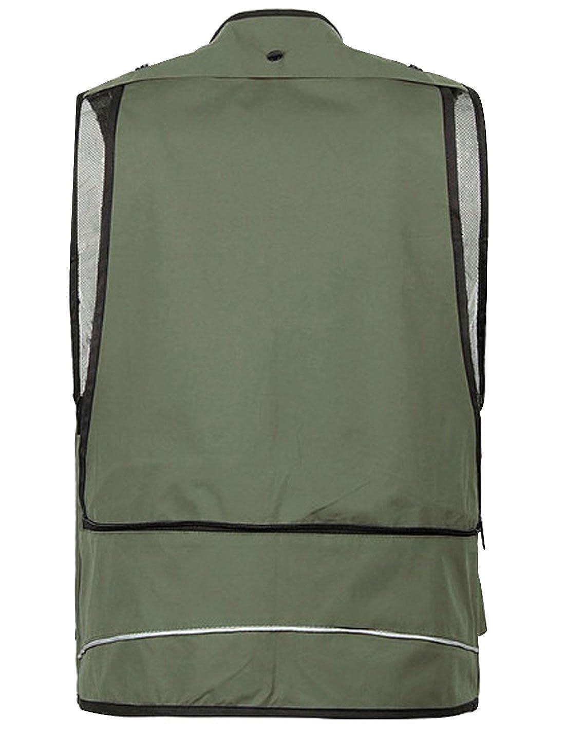 Gihuo Mens Outdoor Multi Pockets Fishing Travel Zip Vest