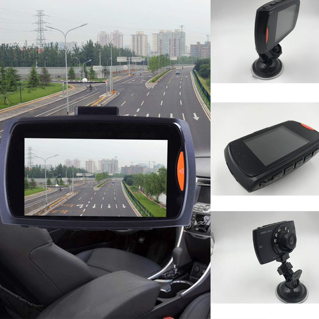 G30 1080P Car Dash Camera Car DVR, Car Driving Recorder 150 Degree Wide Angle Driving Recorder in-Visor Video, Night Vision,Motion Detection (Black)