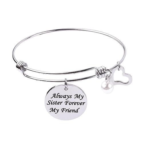 Amazon com: RUNXINTD Best Friends Bracelets Always My Sister