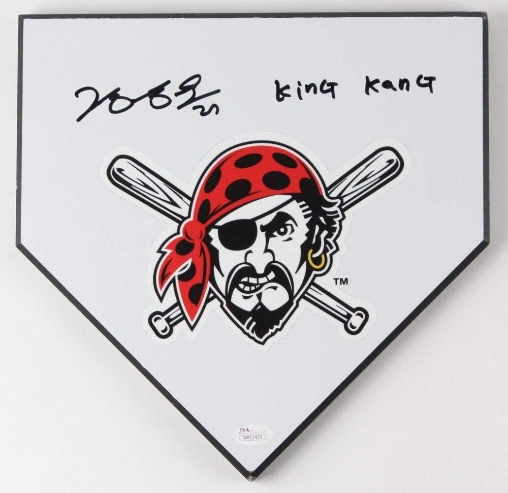 Jung Ho Kang Autographed Signed Home Plate Base 11X11 King Kang JSA Certified
