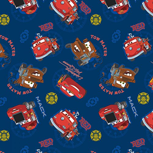 Disney Pixar Cars Fabric - Springs Creative Disney Pixar Cars All Over Print 100% Cotton by the yard