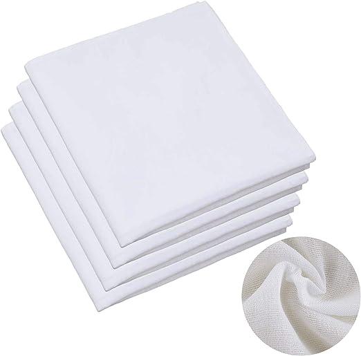 Paquete de 4 paños de muselina suave de algodón puro o queso ...