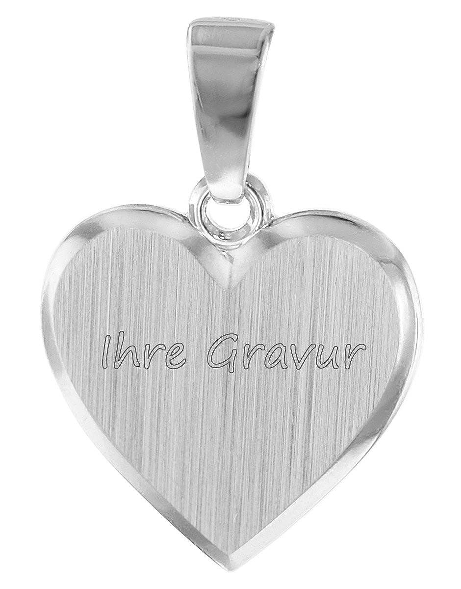 trendor Kinder Herz-Anhänger zum Gravieren Silber 08524 - inklusive Wunsch-Gravur