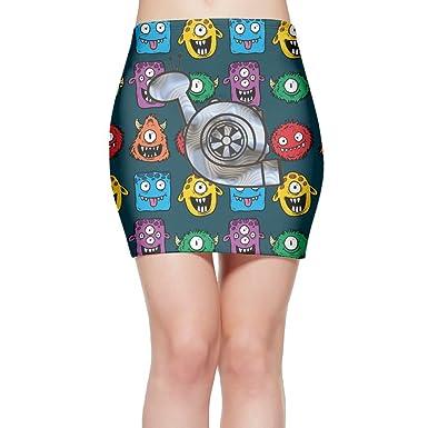 De Skirt Turbo Boost Snail Womens Basic Party Tube Mini Bodycon Skirt Pencil Skirt