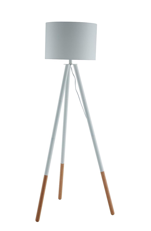 Wundervoll Stehlampe Kupfer Das Beste Von Salesfever Stehlampe, Stehleuchte, Metall- + Holzbeine In
