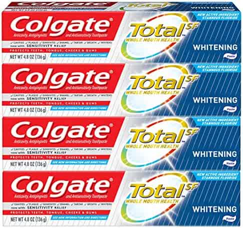 Colgate Total Whitening Toothpaste - 4.8 ounce (4 Pack)