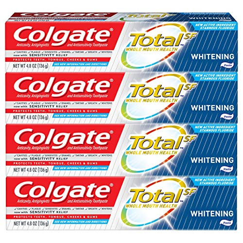 Colgate Total Whitening Toothpaste – 4.8 Ounce (4 Pack)