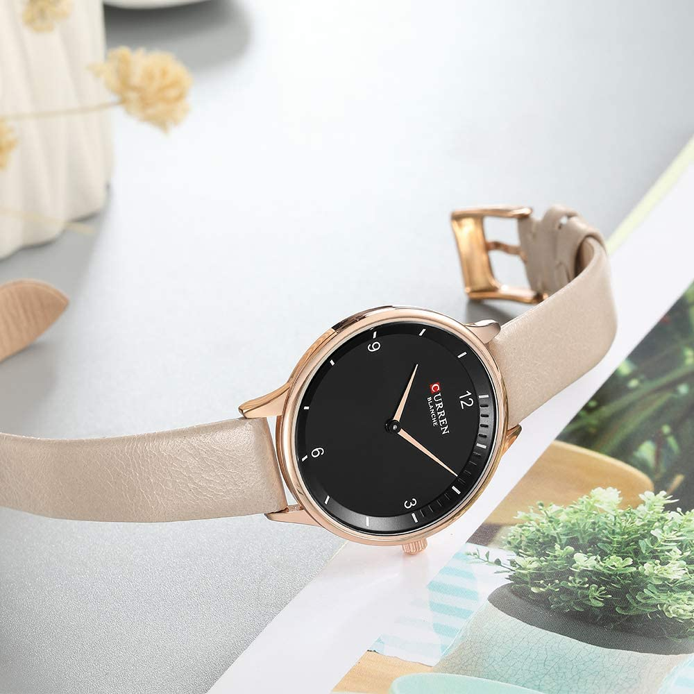 Amazon.com: Fashion Light Slim Quartz Watches Women Casual Clock ...
