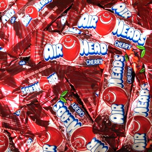 AirHeads Cherry Taffy Mini Candy Bars 1LB Bag