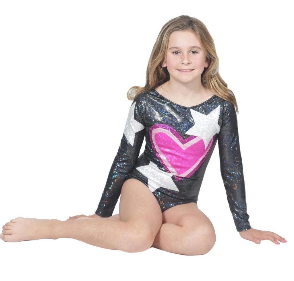 Delicate Illusions Long Sleeve Competition Gymnastics Fitness Girls High End Leotard L (8-9 yrs) Love My Planet