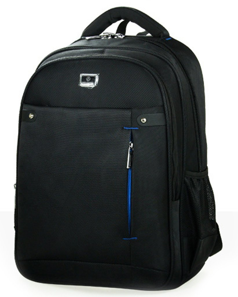 Cool Black High Class Double Shoulders Backpack Nice to as Laptop by Foverjim Backpack
