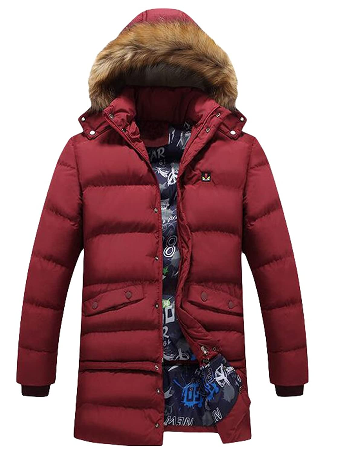 Vogstyle Men's Jacket Hooded Winter Coat