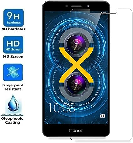 REY Protector de Pantalla para Huawei Honor 6X, Cristal Vidrio ...