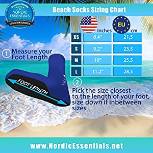 Beach Socks [2 Pairs] Wear in Sand Playing Volleyball & Soccer or as Booties for Snorkeling, Diving & Watersports - by Nordic Essentials™ - 1 Year Warranty (Pink + Red, S)