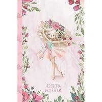 Emilie's Notebook: Dance & Ballet Jorunal for Girls, 108 lined pages 6x9