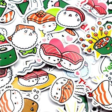 XCVBN Creative Kawaii Self-Made Japanese Cute Sushi Stickers ...