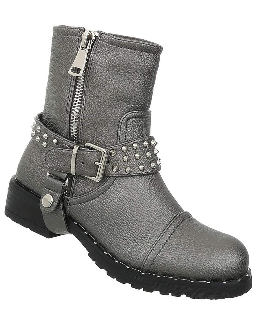 Damen Schuhe Stiefeletten Bequeme Übergangsstiefel Kurze Stiefel Blockabsatz Stiefelies 36-41