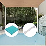 JAXPETY UV Block Sun Shade Sail Perfect for Outdoor Patio Garden (Light brown, 16ft x 16ft Square)