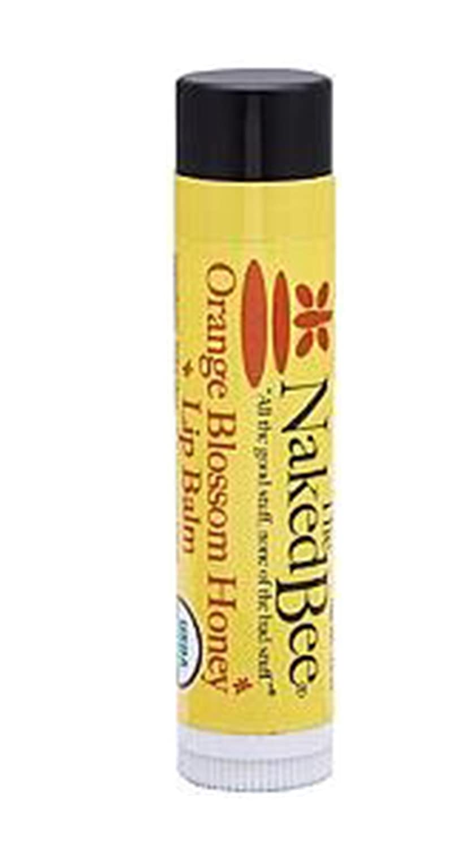 The Naked Bee Lip Balm, Orange Blossom Honey.15 Ounce NBLB