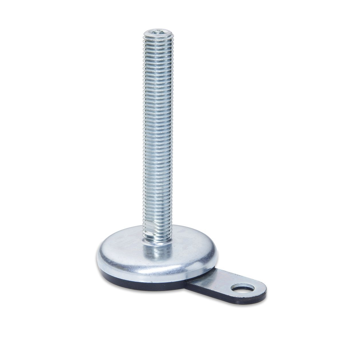 Winco 10T75P07//A Series GN 340.1 Steel Leveling Mount with Lag Bolt Lug J.W 2.95 Thread Length 3.15 Base Diameter Inc. 3.15 Base Diameter Inch Size 5//8-11 Thread Size Rubber Pad Inlay Without Nut Zinc Plated and Blue Passivated Finish