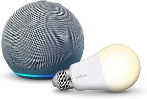 Echo Dot (4th Generation) with Sengled Bulb (Blue)