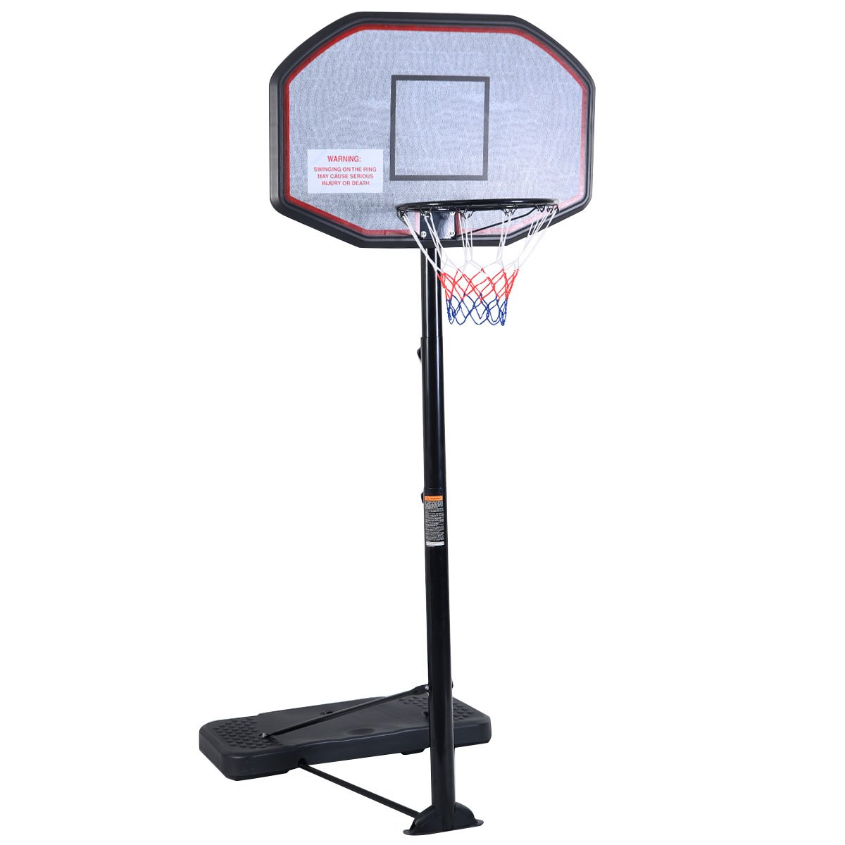 Portable basketball hoop lifetime best midrange portable for Basketball hoop inside garage