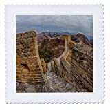 3dRose Danita Delimont - China - Evening light on The Great Wall of China - 16x16 inch quilt square (qs_257088_6)