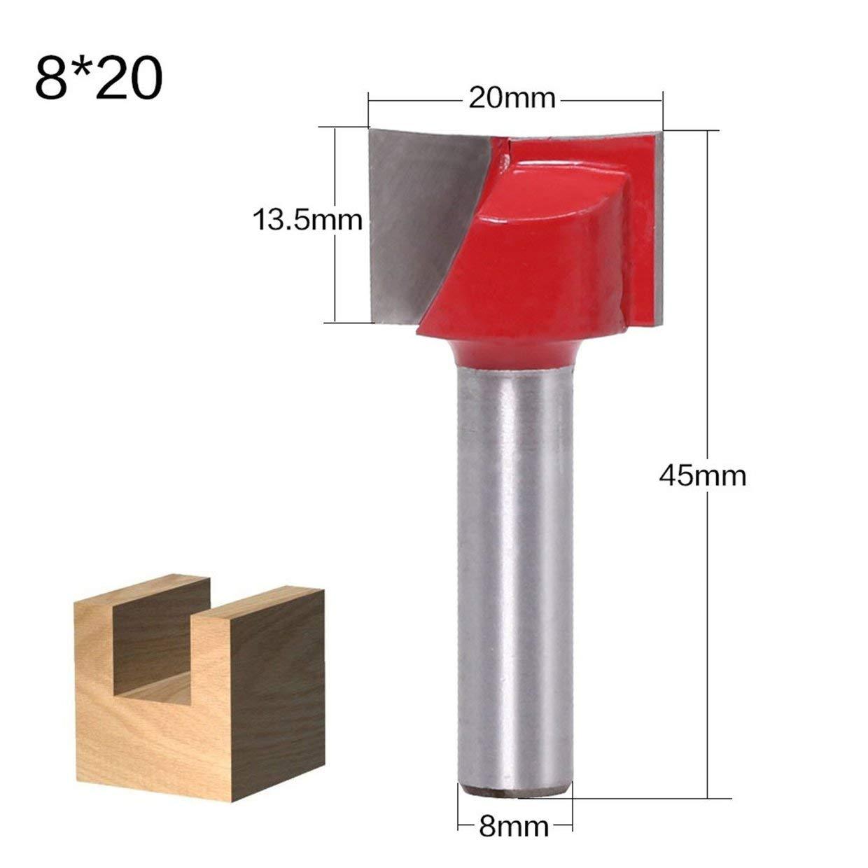 MXECO 8MM V/ástago de limpieza de grabado inferior Fresa de fresado Carpinter/ía Fresa de carburo Fresa de grabado Fresa para madera maciza