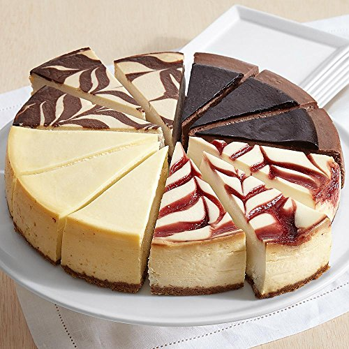 Shari's Berries - Assorted Cheesecake Sampler - 4 Count - Gourmet Baked Good Gifts