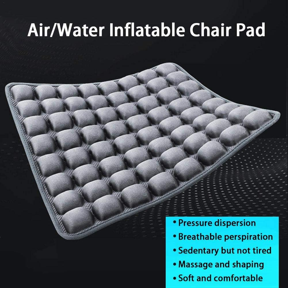 Bloomma Cojín de asiento de coche Almohadilla inflable de aire/agua para silla Cubierta transpirable, para silla de oficina, asiento de coche, silla de ruedas y uso diario
