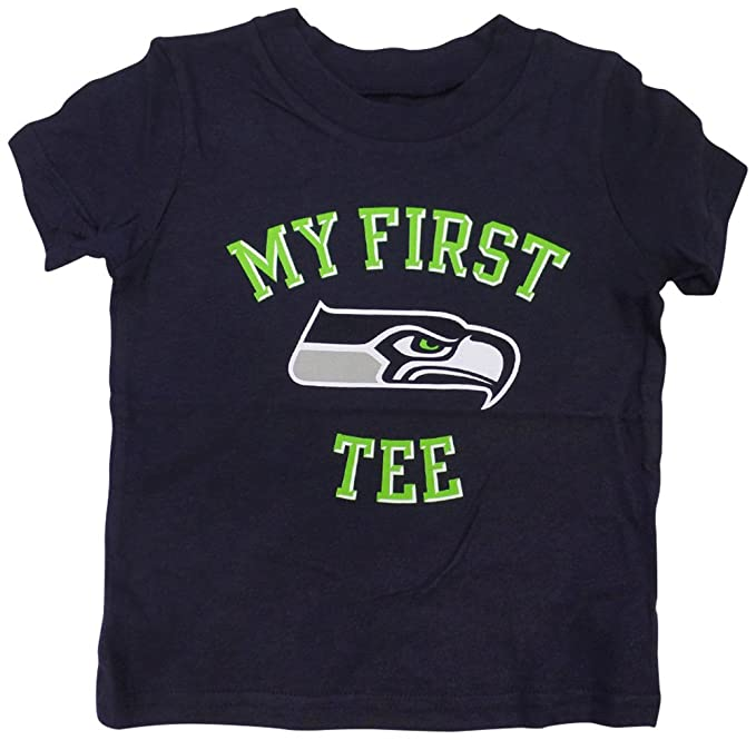 d316eed92 Amazon.com   Outerstuff Seattle Seahawks My First Baby Infant T-Shirt    Sports   Outdoors
