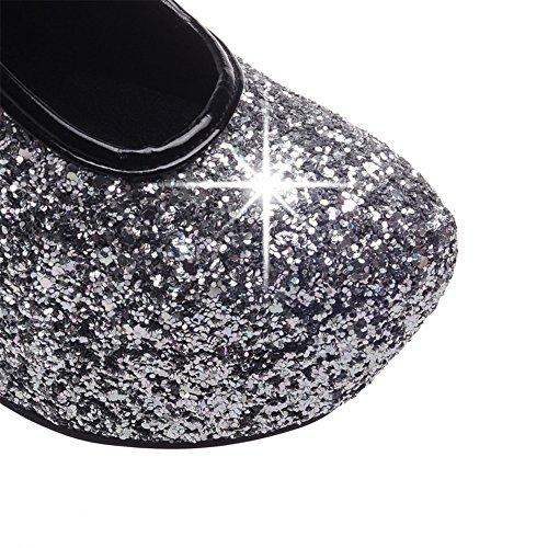 Fashion Heel - plataforma mujer plata