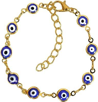 Eye Gold Bracelet Protection Bracelet Evil Eye Jewelry Gift For Her Evil Eye Bracelet Blue Eye Gold Bracelet Good Luck Bracelet