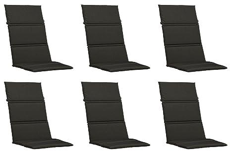 6 Cuscini per sedia con schienale alto 120 x 50 x 3 cm KETTLER ...