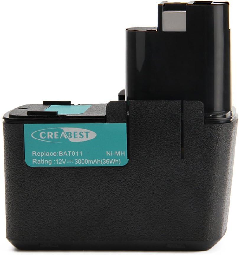 Creabest 12V 3.0Ah Batería para Bosch 3300K BAT011 PSB 12VSP-2 PSR 120 PSR 12VES-2 GBM 12V GLI 12V GSB 12 VSE-2 GDR 12V GSR 12V